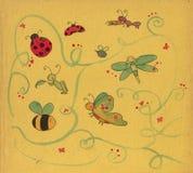 Insectes d'aquarelles Photo libre de droits