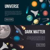 Insectes d'exploration d'univers avec les éléments cosmiques Photo libre de droits