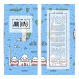 Insectes de déplacement d'Abu Dhabi réglés dans le style linéaire Photo libre de droits
