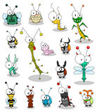 Insectes de dessin animé Photo libre de droits