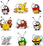Insectes de dessin animé Image libre de droits