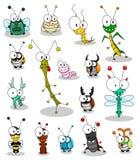 Insectes de dessin animé Photo libre de droits