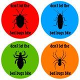 Insectes de lit illustration de vecteur