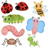 Insectes drôles réglés illustration stock