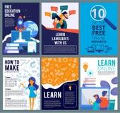 Insectes en ligne d'éducation Calibre de couverture de brochure de calibre webinar d'affiches de présentation d'enseignement à di illustration de vecteur