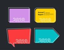 Insectes heureux de fond de 2019 ans de vecteur nouveaux images libres de droits