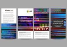Insectes réglés, bannières modernes Descripteurs d'affaires Calibre de conception de couverture, dispositions abstraites de vecte Image stock