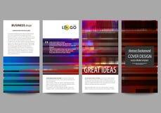 Insectes réglés, bannières modernes Descripteurs d'affaires Calibre de conception de couverture, dispositions abstraites de vecte Photographie stock libre de droits