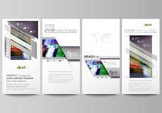 Insectes réglés, bannières modernes Descripteurs d'affaires Calibre de conception de couverture, dispositions abstraites de vecte Image libre de droits
