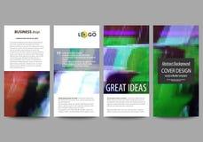 Insectes réglés, bannières modernes Descripteurs d'affaires Calibre de conception de couverture, dispositions abstraites de vecte Photos stock