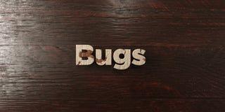 Insectes - titre en bois sale sur l'érable - image courante gratuite de redevance rendue par 3D Photo stock