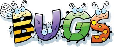 Insectes Word de bande dessinée Photographie stock libre de droits