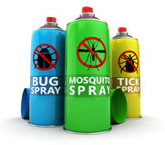 Insecticide bottles Stock Photo
