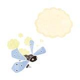 insecto de la historieta con la burbuja del pensamiento Fotos de archivo