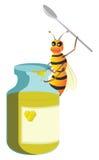 Insecto de la miel de la abeja Imagen de archivo libre de regalías