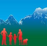 Insecto do curso da família da montanha ilustração do vetor