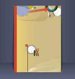 Insecto, folheto, molde do projeto da brochura ilustração stock