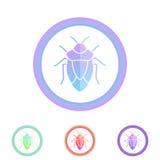 insecto Icono del vector del escarabajo Antivirus, concepto de la protección Foto de archivo