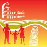 Insecto italiano do curso da família ilustração stock