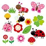 Insecto lindo del jardín ilustración del vector