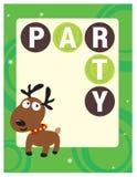 insecto/poster do partido 8.5x11 ilustração stock