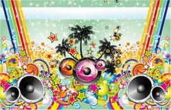 Insecto tropical da música ilustração do vetor