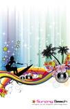 Insecto tropical do evento da música ilustração royalty free