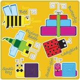 Insectos cuadrados encantadores Imagen de archivo libre de regalías