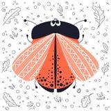 Insectos de la historieta del vector ilustración del vector