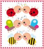 Insectos en amor stock de ilustración