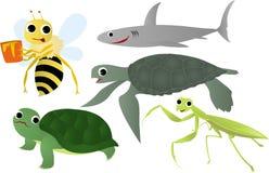 Insectos y animal de mar stock de ilustración