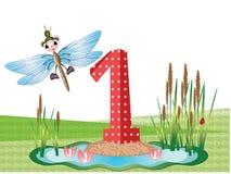 Insectos y serie de los números, 1 Foto de archivo