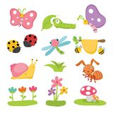Insects character design royalty free illustration