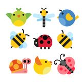 Insects character vector design vector illustration