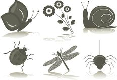 Insects (icons) Royalty Free Stock Images