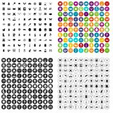 100 insects icons set vector variant. 100 insects icons set vector in 4 variant for any web design isolated on white Royalty Free Stock Photo
