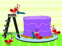 Insects Makes Cake Stock Photography