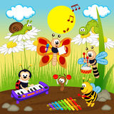 Insects musicians Royalty Free Stock Photos