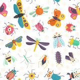 Insects Pattern Stock Photography