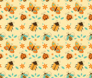 Insects Pattern Royalty Free Stock Image