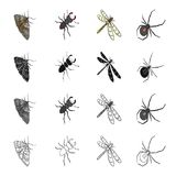 Insects, useful, harmful, and other web icon in cartoon style.Nature, ecology, view, icons in set collection. Insects, useful, harmful, and other  icon in Royalty Free Stock Images