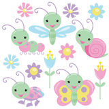 Insects vector illustration Royalty Free Stock Images