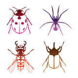 Insects vector. Insect suitable for icon and logo in vector format Royalty Free Stock Image