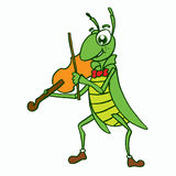 Insects vector with violin t-shirt design Stock Images