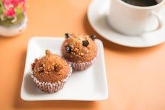 Insectvoedsel in een banaan cupcake Royalty-vrije Stock Foto's