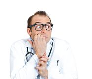 Insecure man, doctor Royalty Free Stock Image