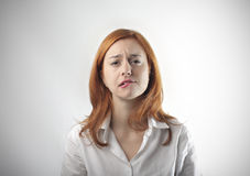 Insecure woman Stock Images