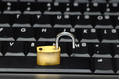 InSecured Data Stock Photo