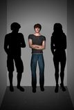 Insecurity Teen Man Social Phobia Inside Lift  Royalty Free Stock Photography