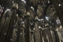 Insede della cattedrale di Milano Fotografie Stock Libere da Diritti